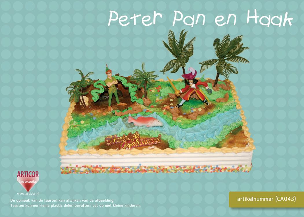 Peter Pan En Kapitein Haak Taartset